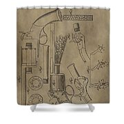 Lemat Revolver Patent Shower Curtain