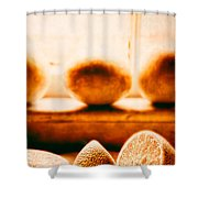 Lemon Among Oranges Shower Curtain