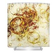 Lemon Bubbles Shower Curtain