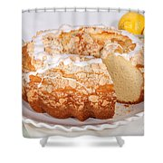 Lemon Bundtcake With Wedge Cut Out Shower Curtain