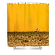 Lemon Fisher Shower Curtain