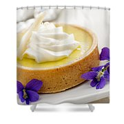 Lemon Tart  Shower Curtain