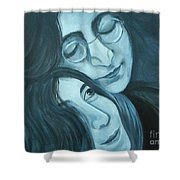 Lennon And Ono Shower Curtain