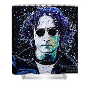 Lennon Shower Curtain by Chris Mackie