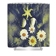In The Gothic Night With  Stars Shower Curtain