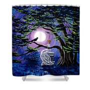 Lenore By A Cypress Tree Shower Curtain