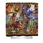 Lenormand Shower Curtain
