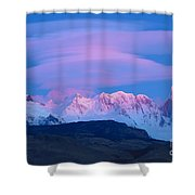 Lenticular Cloud At Dawn In Argentina Shower Curtain by John Shaw