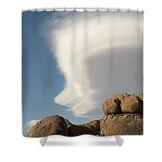 Lenticular Cloud Shower Curtain