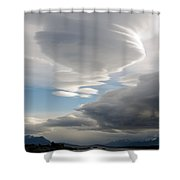 Lenticular Cloud Over Puerto Natales Shower Curtain