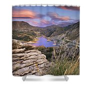 Lenticular Clouds At Canales Lake Shower Curtain