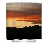 Lenticular Clouds Over Longs Peak 2 Shower Curtain