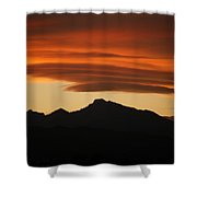Lenticular Clouds Over Longs Peak Shower Curtain