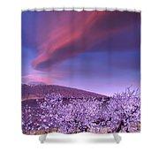 Lenticular Clouds Over Sierra Nevada Shower Curtain