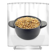Lentils In A Black Cup Shower Curtain