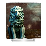 Leo Celestial Shower Curtain