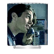 Leo Johnsone .. Are You Telling Me There's No Santa Claus Shower Curtain