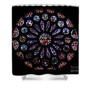 Leon Spain Cathedral Rosette Shower Curtain