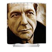 Leonard Cohen Artwork Shower Curtain