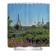 Leonard P Zakim Bridge From Cambridge Shower Curtain