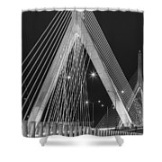 Leonard P. Zakim Bunker Hill Memorial Bridge Bw Shower Curtain