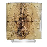 Leonardo: Anatomy, C1510 Shower Curtain