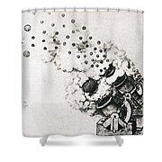 Leonardo: Cannon Shower Curtain