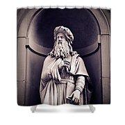 Leonardo Da Vinci Shower Curtain