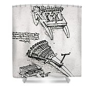 Leonardo: Gun Shower Curtain