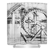 Leonardo: Invention Shower Curtain