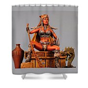 Leopard And Serpent Close Up Shower Curtain