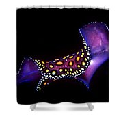 Leopard Flat Worm Shower Curtain