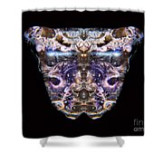 Leopard Heart Bowl Shower Curtain