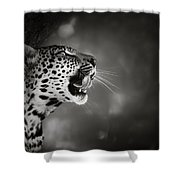 Leopard Portrait Shower Curtain