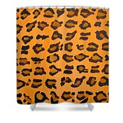 Leopard Print Hand Painted Leopard Print  Shower Curtain