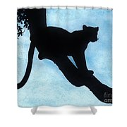 Leopard - Silhouette Shower Curtain