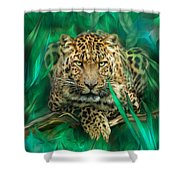 Leopard - Spirit Of Empowerment Shower Curtain