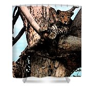 Leopard Spotted Shower Curtain