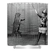 Leopard Trainer, C1906 Shower Curtain