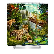 Leopards Shower Curtain