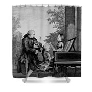 Leopold Mozart And His Two Children Shower Curtain