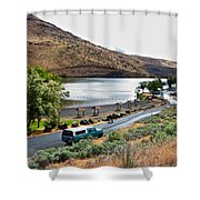 Lepage Rv Park On Columbia River-or Shower Curtain