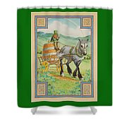 Leprechaun Shower Curtain by Lynn Bywaters