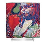 Leroi Moore Colorful Full Band Series Shower Curtain