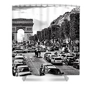 Les Champs Elysees  Shower Curtain