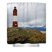 Les Eclaireurs Lighthouse Southern Patagonia Shower Curtain