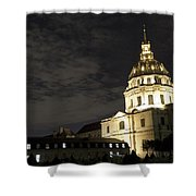 Les Invalides - Eglise Du Dome At Night - 2 Shower Curtain