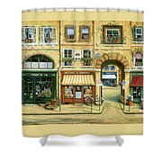 Les Rues De Paris Shower Curtain