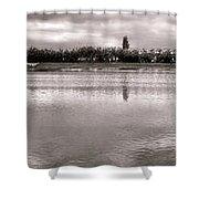 Les Templettes Et Le Bassin De La Sourderie Shower Curtain