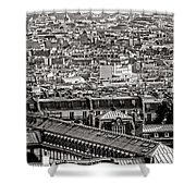 Les Toits De Paris Shower Curtain